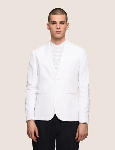 LINEN BLEND TWO-BUTTON BLAZER