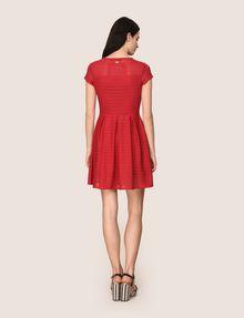 ARMANI EXCHANGE SHEER STRIPE FIT-AND-FLARE Mini dress Woman e