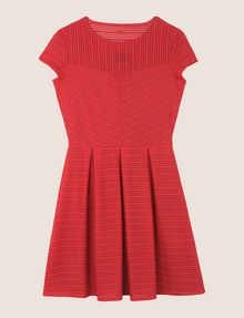 ARMANI EXCHANGE SHEER STRIPE FIT-AND-FLARE Mini dress Woman r