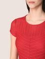ARMANI EXCHANGE SHEER STRIPE FIT-AND-FLARE Mini dress Woman b