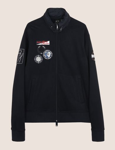 HIDEAWAY HOOD NAUTICAL ZIP-UP