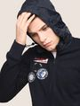 ARMANI EXCHANGE HIDEAWAY HOOD NAUTICAL ZIP-UP Fleece Jacket Man a