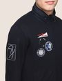 ARMANI EXCHANGE HIDEAWAY HOOD NAUTICAL ZIP-UP Fleece Jacket Man b