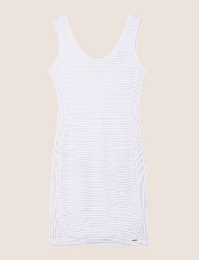 TONAL STRIPED SCOOP-BACK BODYCON
