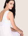 ARMANI EXCHANGE TONAL STRIPED SCOOP-BACK BODYCON Mini dress Woman a