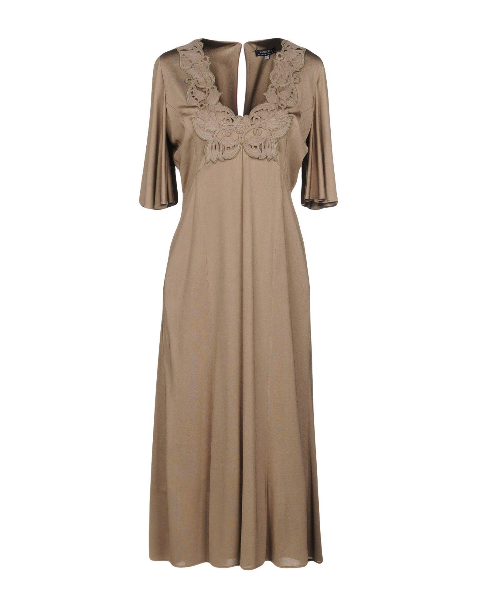 ANDREW GN Платье длиной 3/4 цена и фото
