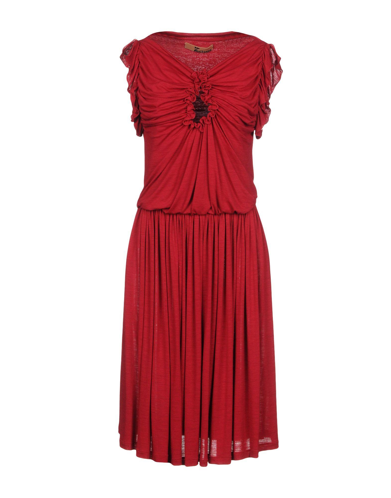 JOHN GALLIANO Платье до колена цена 2017