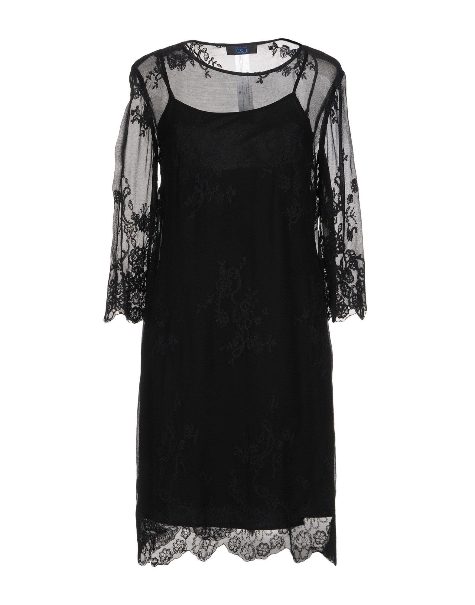 TWIN-SET JEANS Короткое платье цена