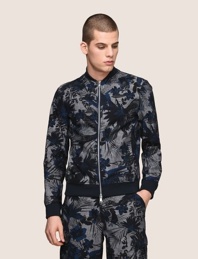 TROPICAL FLORAL BOMBER JACKET