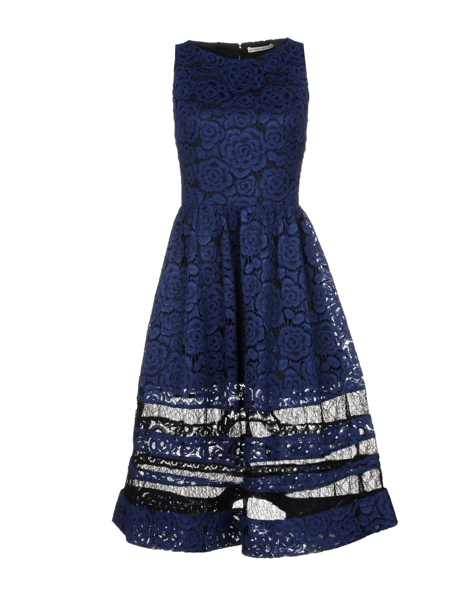 ALICE + OLIVIA Платье до колена alice olivia платье с вышивкой люрексом
