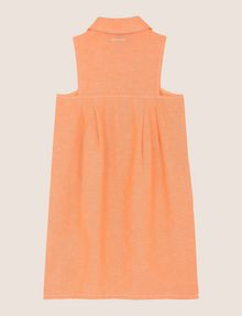 ARMANI EXCHANGE GIRLS LINEN-BLEND ZIP BALLOON DRESS Dress Woman r