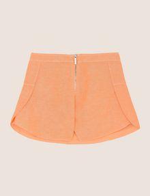 ARMANI EXCHANGE GIRLS LINEN-BLEND ZIP SKORT Shorts Woman r