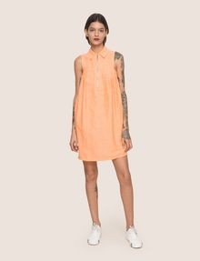 ARMANI EXCHANGE ZIP-FRONT COLLARED BUBBLE DRESS Mini Dress Woman d