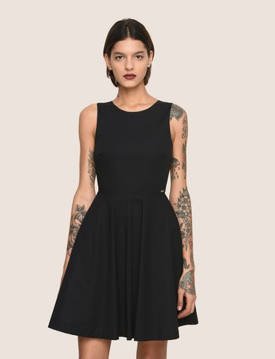 ARMANI EXCHANGE CUTOUT TIE-BACK FIT-AND-FLARE Woman front