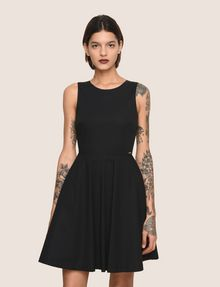 ARMANI EXCHANGE CUTOUT TIE-BACK FIT-AND-FLARE Mini Dress Woman f