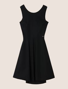 ARMANI EXCHANGE CUTOUT TIE-BACK FIT-AND-FLARE Mini Dress Woman r