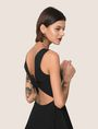 ARMANI EXCHANGE CUTOUT TIE-BACK FIT-AND-FLARE Mini Dress Woman a