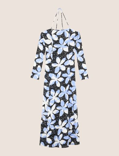 FLORAL DOT TIE-BACK MAXI DRESS