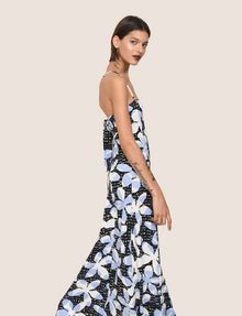 ARMANI EXCHANGE FLORAL DOT TIE-BACK MAXI DRESS Maxi dress Woman a