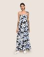 ARMANI EXCHANGE FLORAL DOT TIE-BACK MAXI DRESS Maxi dress Woman f