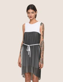 ARMANI EXCHANGE BICOLOR PLEAT TANK DRESS Mini dress Woman f
