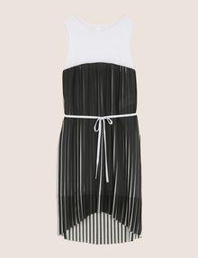 ARMANI EXCHANGE BICOLOR PLEAT TANK DRESS Mini dress Woman r
