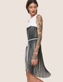 ARMANI EXCHANGE BICOLOR PLEAT TANK DRESS Mini dress Woman a