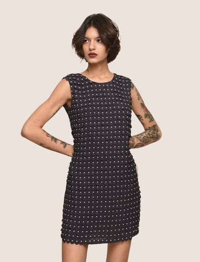 PAILLETTE DOT SHIFT DRESS