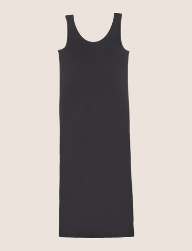 GATHERED PLUNGE-BACK MAXI DRESS