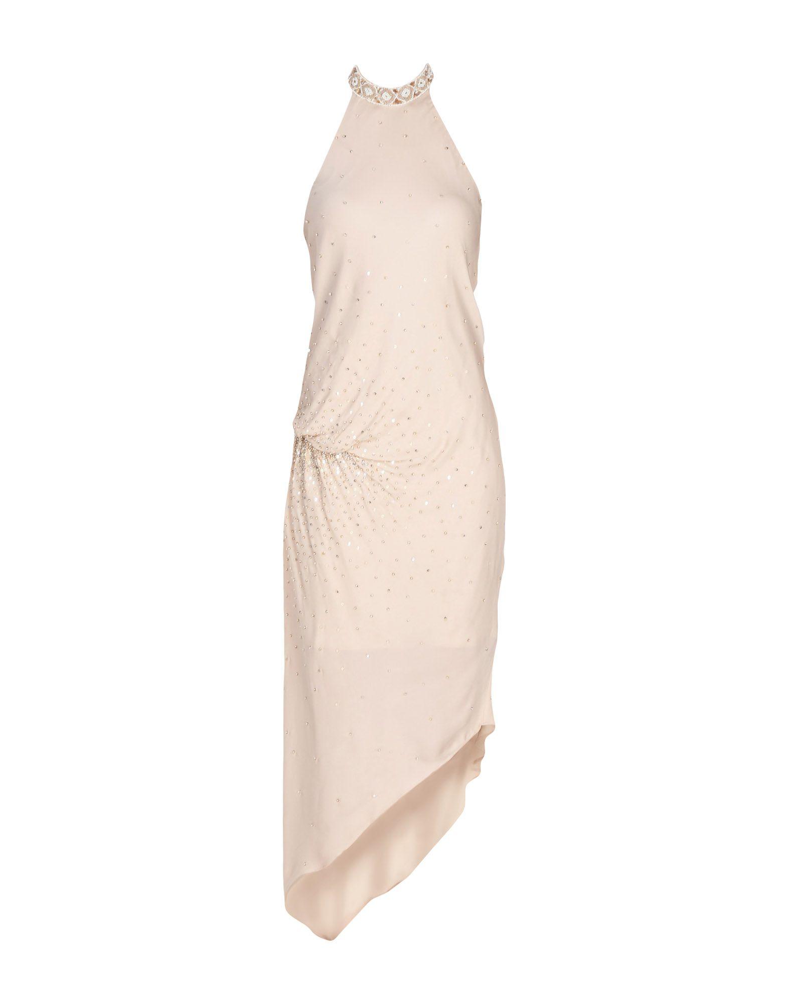HAUTE HIPPIE Damen Knielanges Kleid Farbe Sand Größe 6