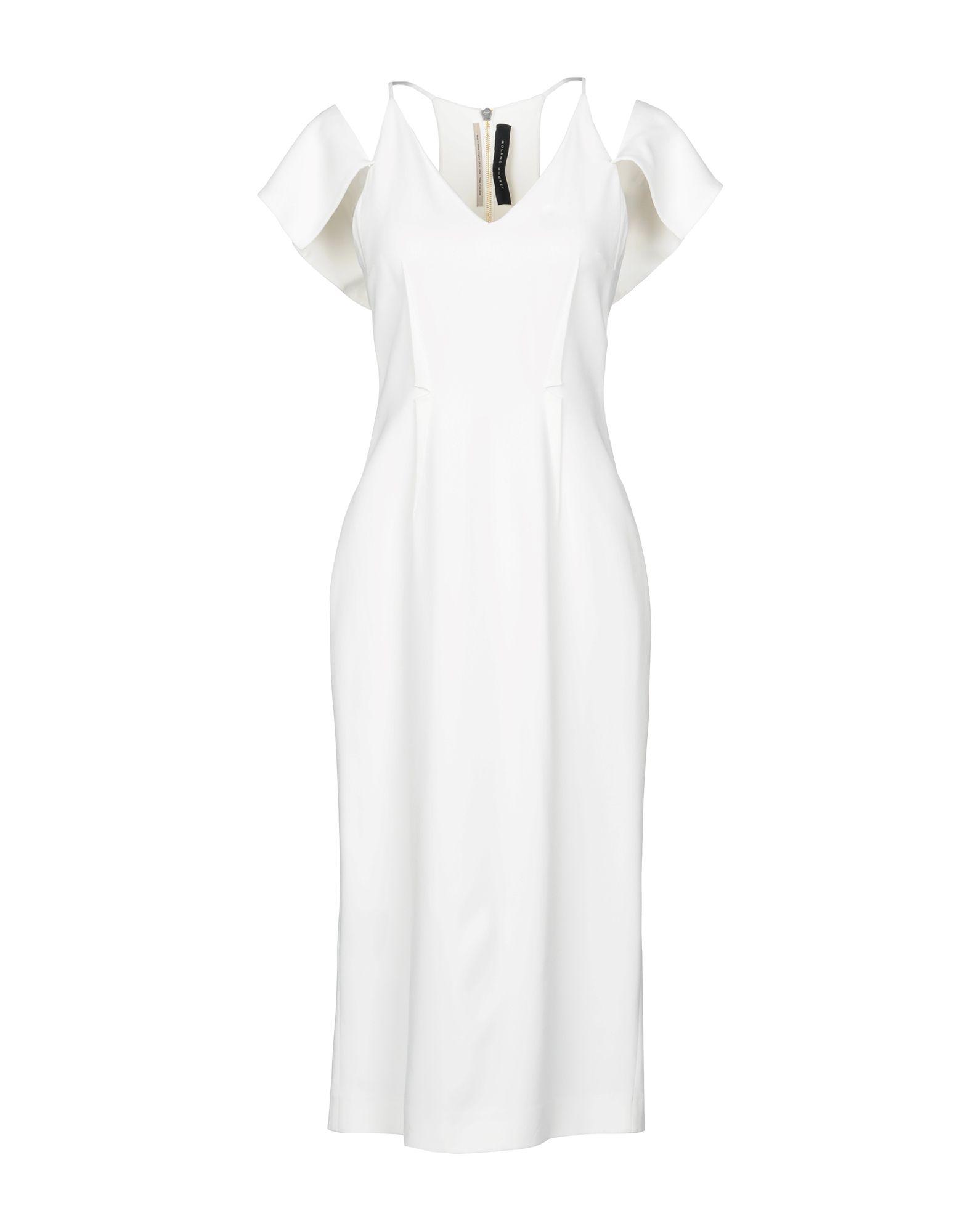 ROLAND MOURET Платье длиной 3/4 терка regent inox presto шестигранная цвет чёрный красный стальной 21 см 93 ac gr 45