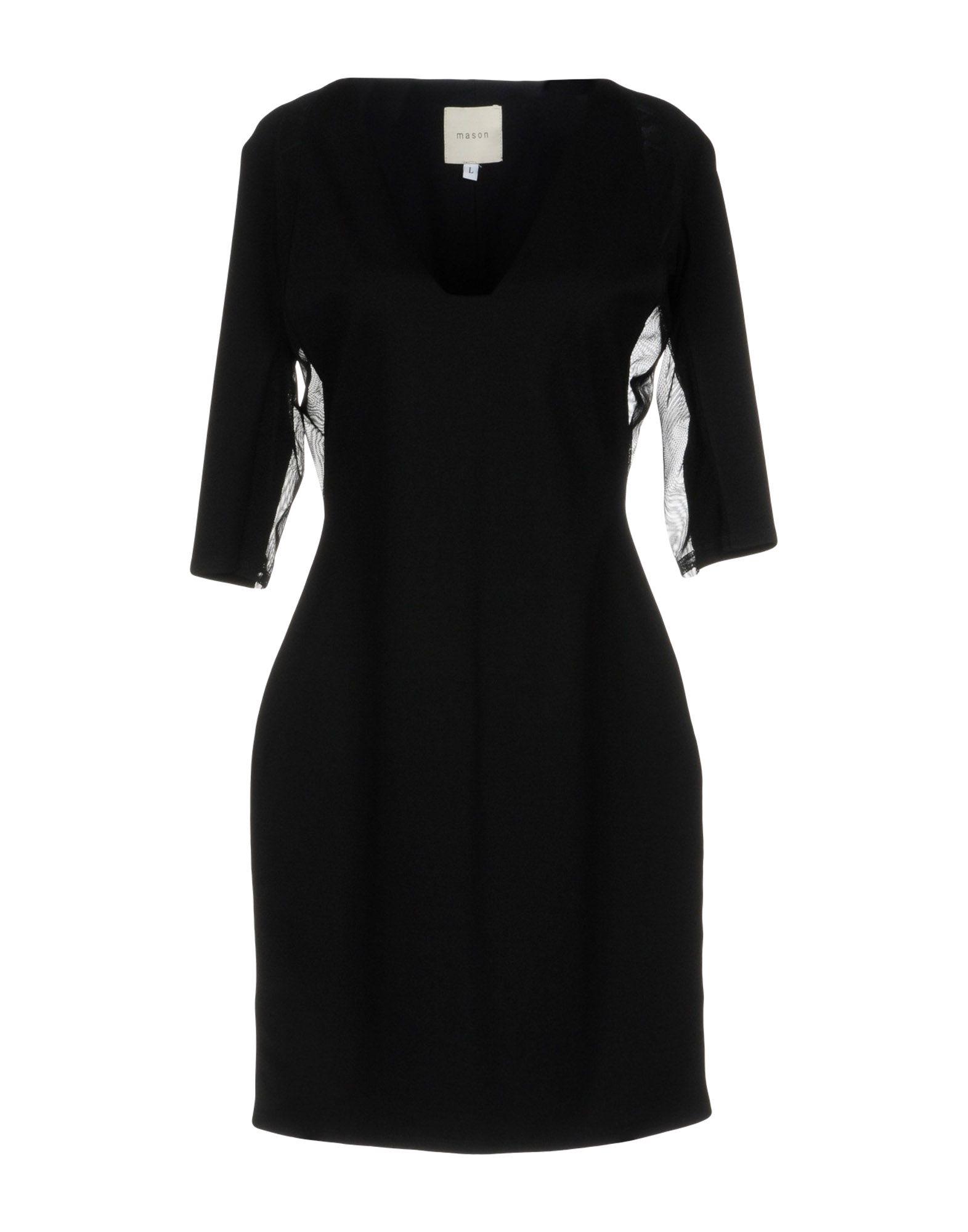 MASON Short Dress in Black