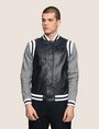 ARMANI EXCHANGE KNIT SLEEVE FAUX-LEATHER VARSITY JACKET Jacket Man f