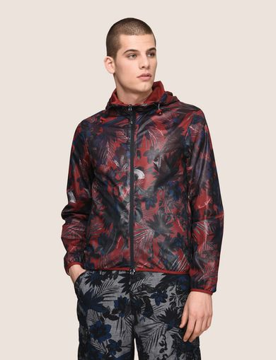 TROPICAL FLORAL MESH WINDBREAKER