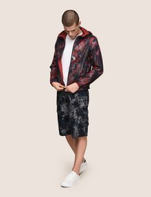 ARMANI EXCHANGE TROPICAL FLORAL MESH WINDBREAKER Jacket Man d