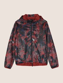 ARMANI EXCHANGE TROPICAL FLORAL MESH WINDBREAKER Jacket Man r