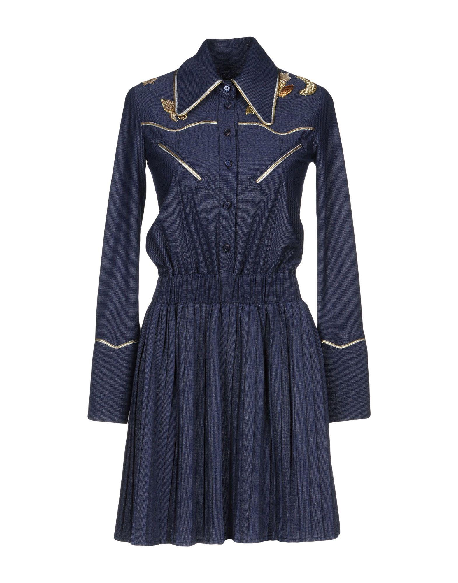 FRANKIE MORELLO Короткое платье платье frankie morello голубой