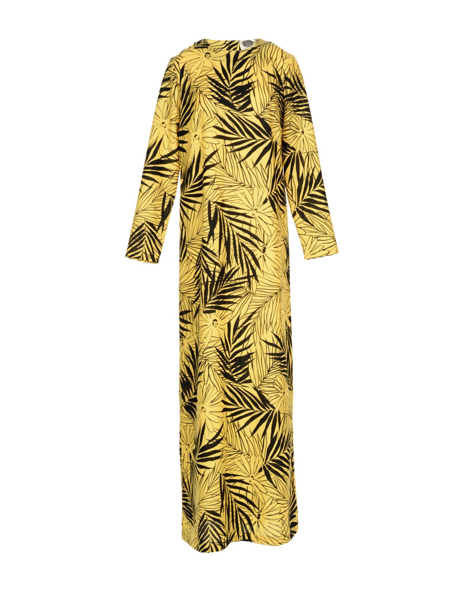 AM Damen Langes Kleid Farbe Gelb Größe 3