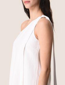 ARMANI EXCHANGE SHIMMER LINEN-BLEND ONE-SHOULDER DRESS Mini dress Woman b