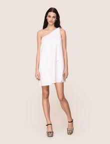 ARMANI EXCHANGE SHIMMER LINEN-BLEND ONE-SHOULDER DRESS Mini dress Woman d