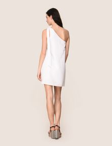 ARMANI EXCHANGE SHIMMER LINEN-BLEND ONE-SHOULDER DRESS Mini dress Woman e