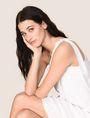 ARMANI EXCHANGE SHIMMER LINEN-BLEND ONE-SHOULDER DRESS Mini dress Woman a