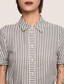 ARMANI EXCHANGE LINEN-BLEND STRIPED MAXI SHIRTDRESS Maxi dress Woman b