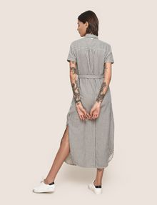 ARMANI EXCHANGE LINEN-BLEND STRIPED MAXI SHIRTDRESS Maxi dress Woman e