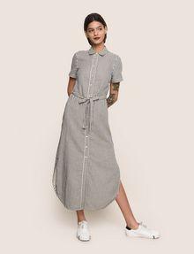 ARMANI EXCHANGE LINEN-BLEND STRIPED MAXI SHIRTDRESS Maxi dress Woman f
