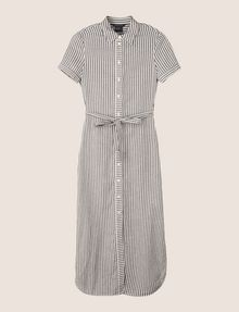 ARMANI EXCHANGE LINEN-BLEND STRIPED MAXI SHIRTDRESS Maxi dress Woman r