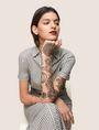 ARMANI EXCHANGE LINEN-BLEND STRIPED MAXI SHIRTDRESS Maxi dress Woman a