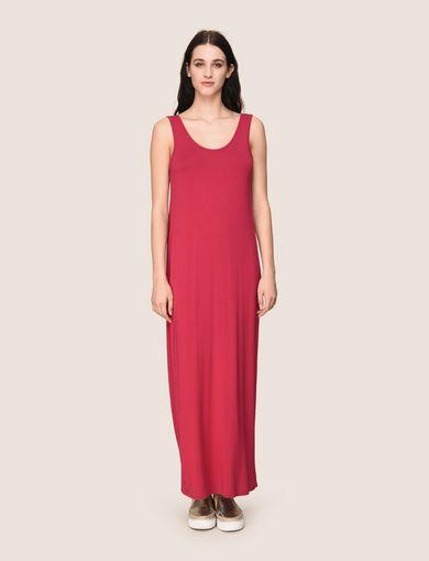 GATHERED PLUNGE-BACK MAXI DRESS