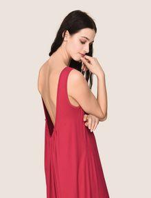 ARMANI EXCHANGE GATHERED PLUNGE-BACK MAXI DRESS Maxi dress Woman a