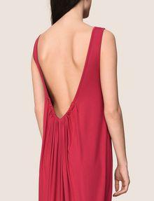ARMANI EXCHANGE GATHERED PLUNGE-BACK MAXI DRESS Maxi dress Woman b